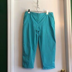 Pants - Flat front chino capris